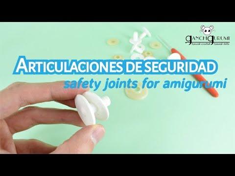 Amigurumi articulado - Cómo utilizar articulaciones de seguridad