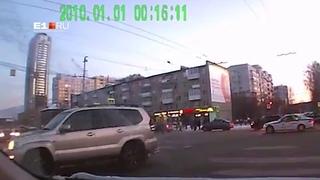 В Екатеринбурге после проезда кортежа полпреда столкнулись три автомобиля