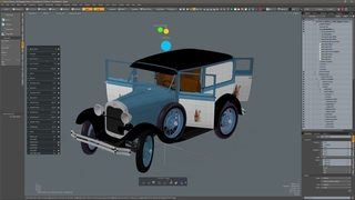 Ford Model A 1928 Delivery Rigged modo
