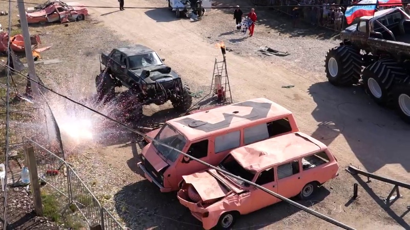 X Fest Bigfoot Car
