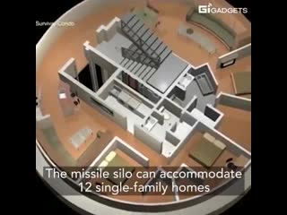 For $3 million you can own a luxury bunker in a converted nuclear missile silo.