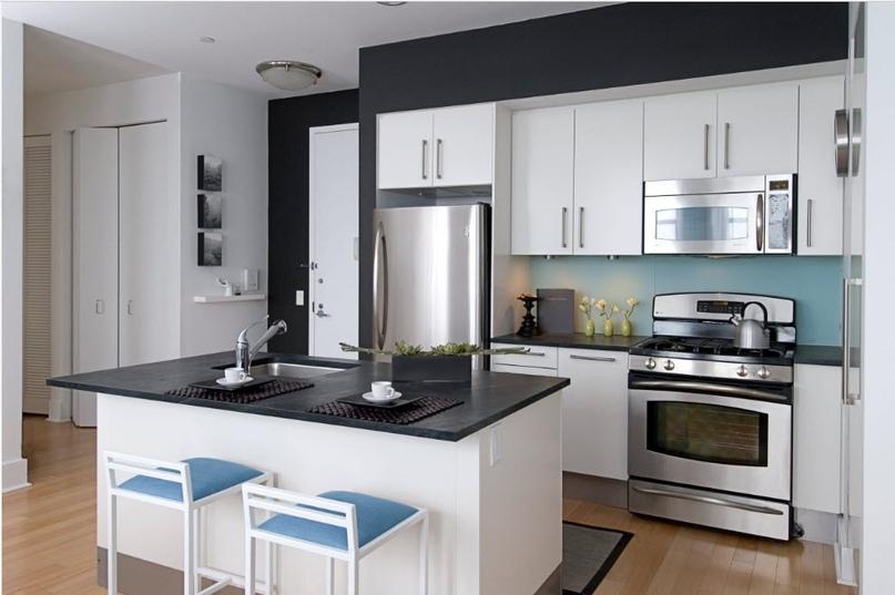 Черно-белая кухня – особенности контрастного дизайна., изображение №11