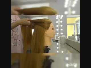 Процесс плетения французской косы