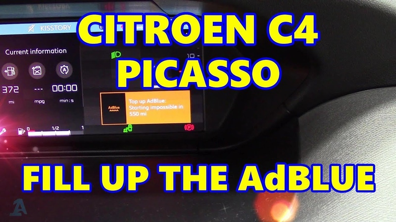 Citroen C4 Picasso Fill up the AdBLUE Tank