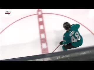 Nathan mackinnon heads to locker room after crashing into boards (720p)