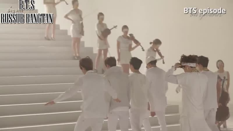 BTS съёмки клипа N. O (рус.саб)