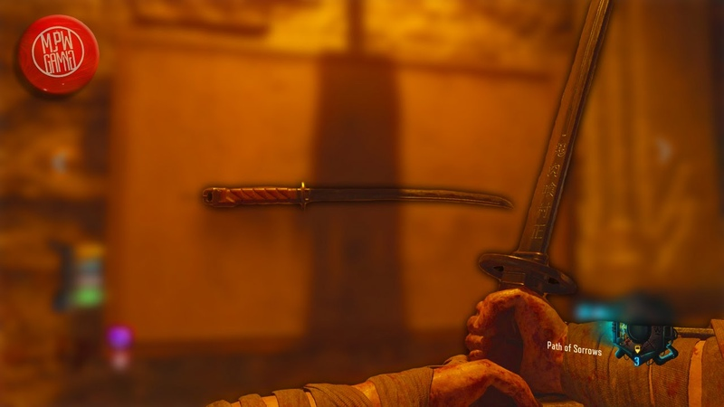 Takeo's Katana Path of Sorrows Gameplay! (Call of Duty: Black Ops 3 Zombies Revelations)