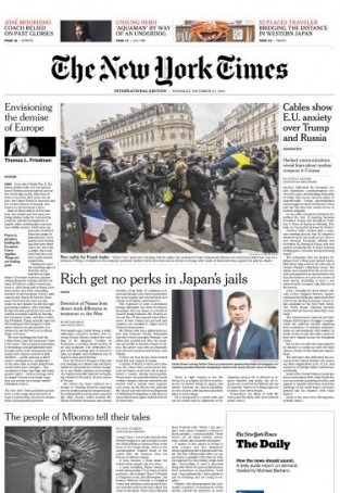 International New York Times - 20 December 2018