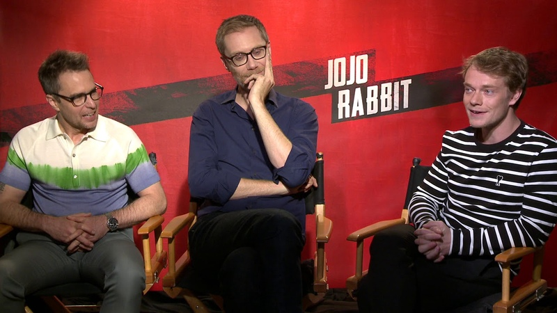Jojo Rabbit || Sam Rockwell, Stephen Merchant, Alfie Allen Junket Interview || SocialNews.XYZ