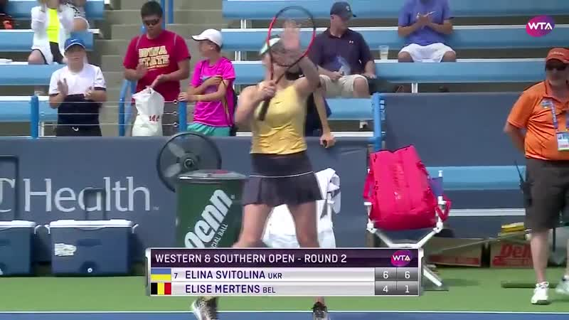 @ElinaSvitolina advances to the @CincyTennis third round! - - The No.7 seed defeats Elise
