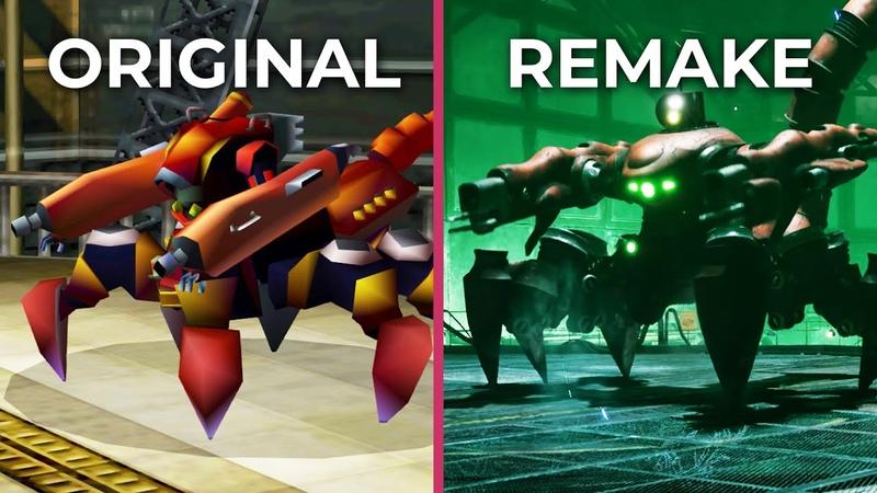 Final Fantasy VII Remake vs. Original (PS4 Pro) Gameplay Graphics Comparison