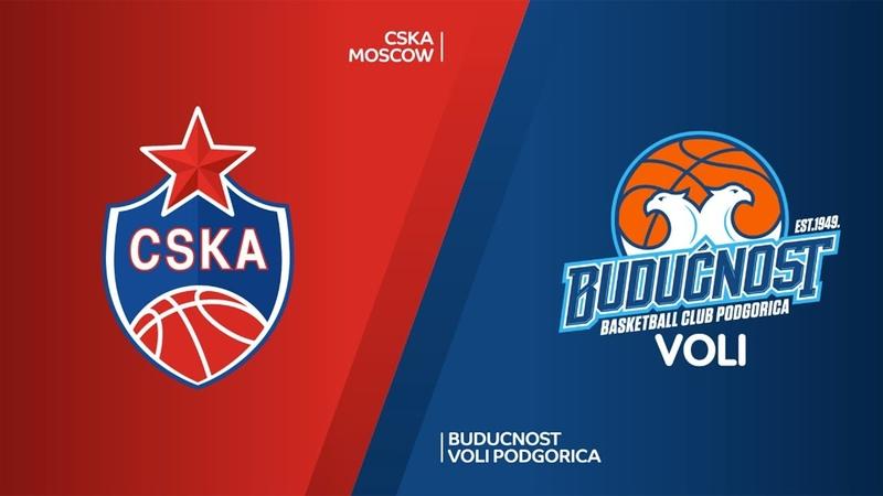 CSKA Moscow - Buducnost VOLI Podgorica Highlights   Turkish Airlines EuroLeague RS Round 21. Евролига. Обзор. ЦСКА - Будучность