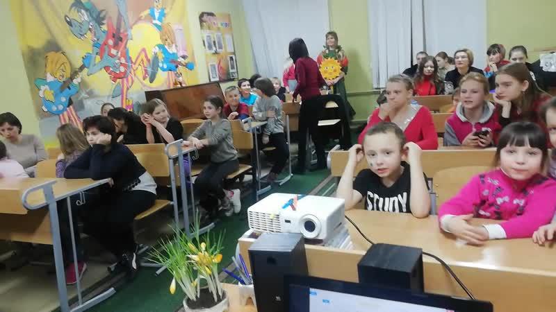 Молодёжный клуб Ирини проводит масленицу в школе интернате 06 03 19