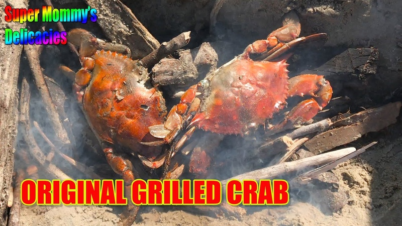Original grilled crab How to catch and cook blue crab BBQ easy recipe