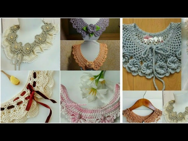 Crochet collar necklace designs and styles latest beautiful collection ll DIY ideas