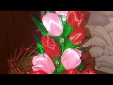 Прикраса на дитячу корзинку кошик канзаши МК декор кошика на пасху