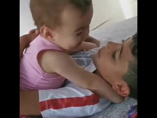 Ronaldo jr. and his younger sister