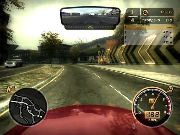 NFS Most Wanted 2005 Ford Mustang GT Серийная Угол Роузвуд и Лайонс Спринт