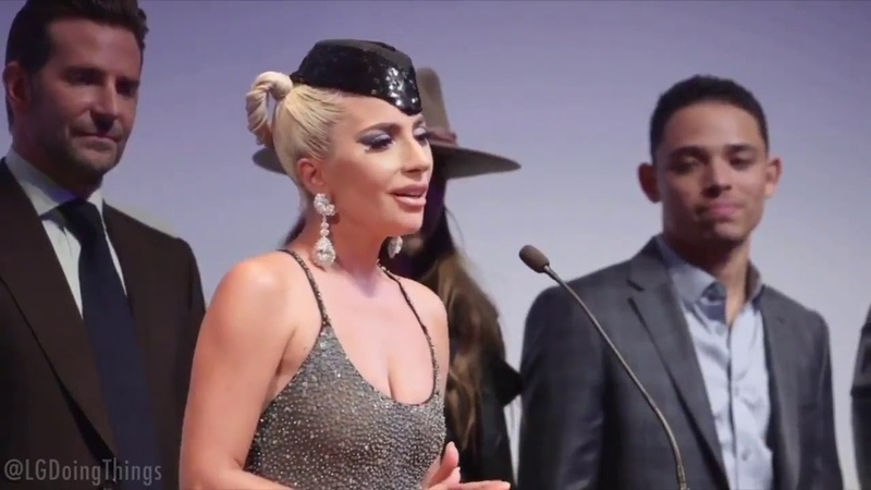 Lady Gaga saying there can be a hundred people in the room for one minute straight
