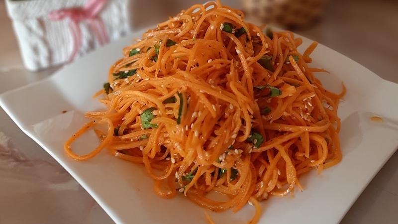 морковный салат Գազարով աղցան салат по корейски gazarov salat