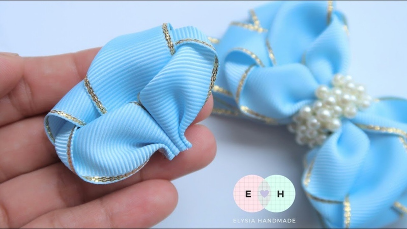 Ribbon Bow Making - Hand Embroidery Works - Ribbon Tricks Easy Making Tutorial 107