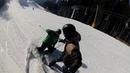 Буковель 26.01.18 столкновение лыжника и сноубордиста