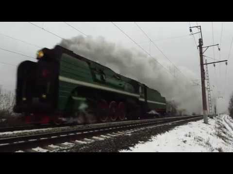 Паровоз П36-0120 на перегоне Владимир - Боголюбово (Владимирская область)