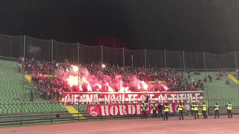 Bakljada Hordi Zla na utakmici Sarajevo - Zrinjski