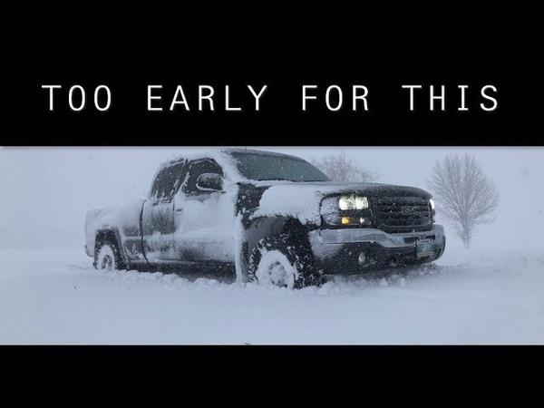 CRAZY OCTOBER SNOW STORM HITS Southern Manitoba