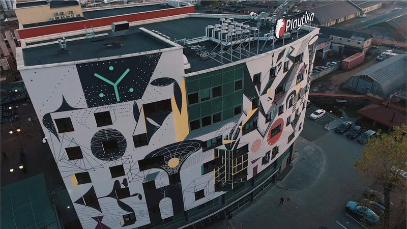 Synesis first IT mural in Belarus made by Anna Redko