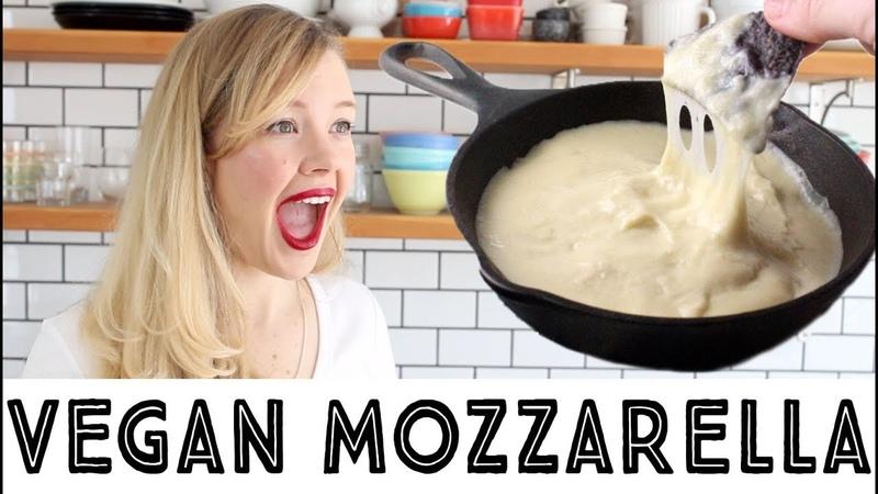 Best Vegan Mozzarella Cheese Recipe Melty Stretchy Gooey