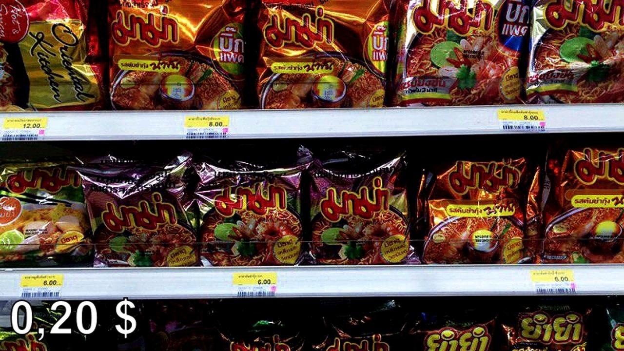 Цены на продукты и еду в Таиланде.  BEQy1f7yKA8