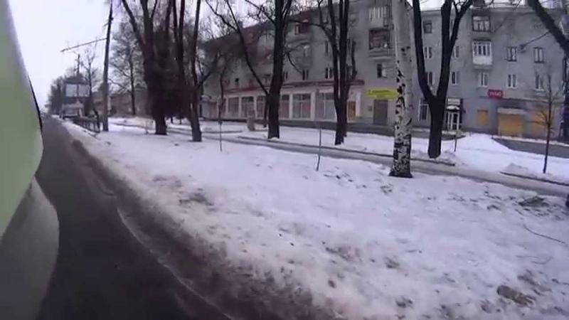 Донецк 17.01.2015 пр т. Киевский. Обстрел градом.