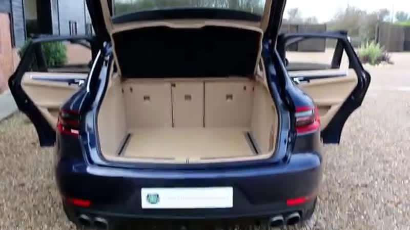 Porsche Macan D S 3 0 TDV6 PDK Automatic in Dark Blue Metallic with Luxor Beige