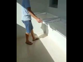 Встроенная сушилка - отличный вариант для балкона -