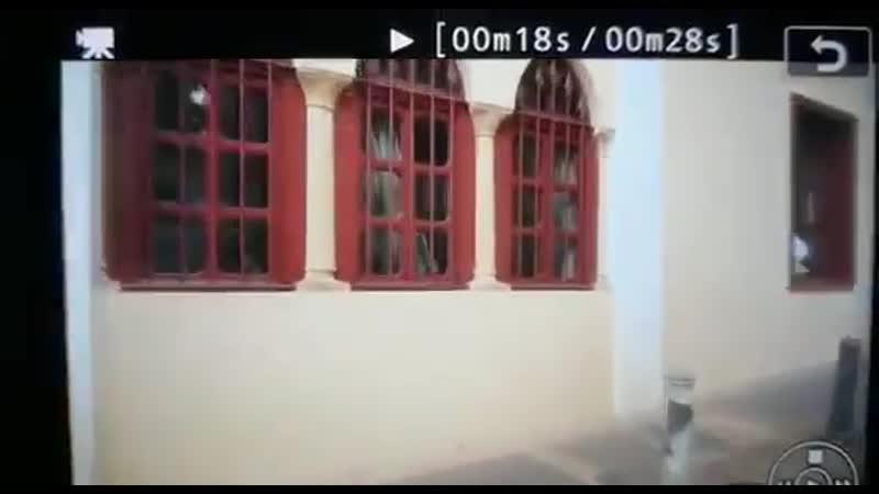 На видео видно как взрывная волна прервала свадебную фотосессию в Бейруте