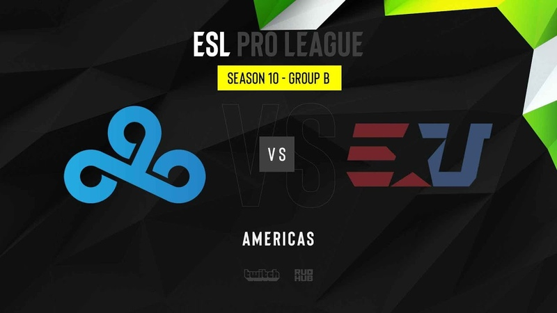 Cloud9 vs eUnited ESL Pro League Season 10 NA map2 de mirage MintGod