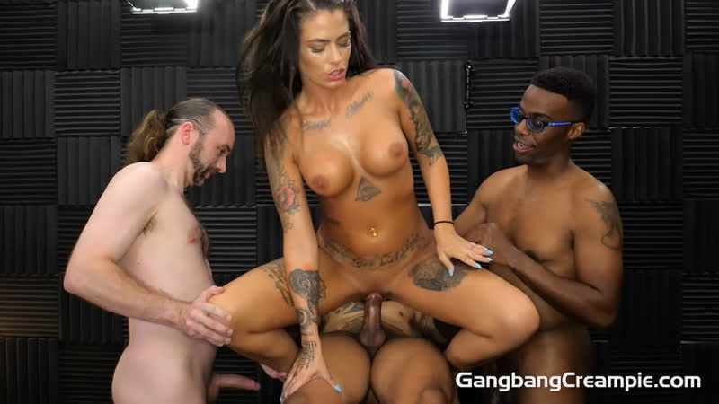Trinity Blaze Gang Bang Creampie 227 Full HD 1080, Gangbang, Creampies, Blowjobs, Interracial, MILF,