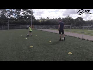 Young baller _ 1v1 with 9 year old skye _ ball mastery, passing skills-обрезка 02