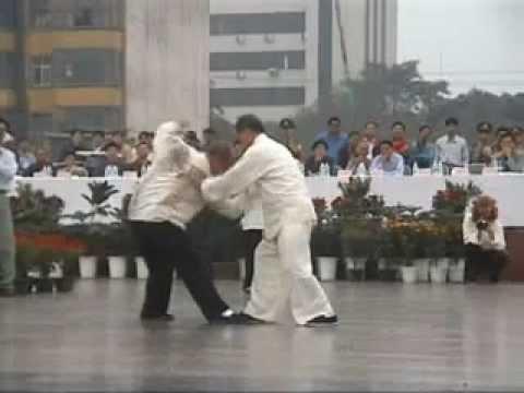 Push Hands - Tui Shou: Master Kai Ying Tung sparring with Paul Drake China 1999