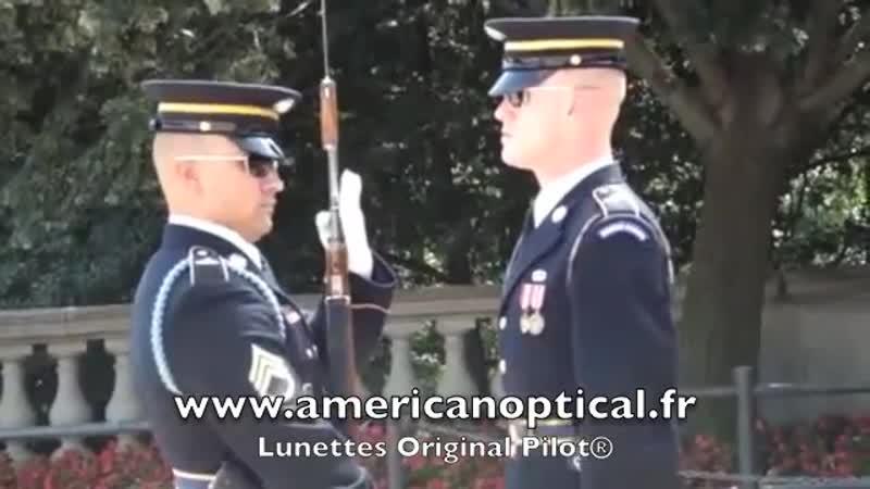 US Air Force Garde d honneur Lunettes aviator AO Original Pilot