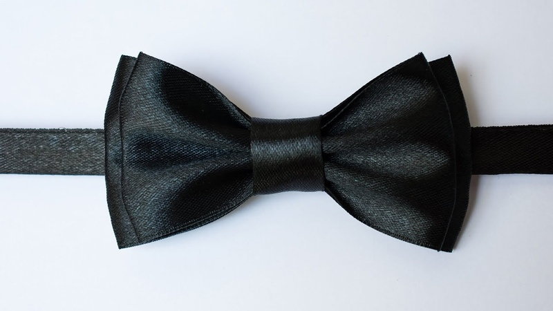 Галстук бабочка своими руками из атласной ленты Bow tie with your own hands from satin ribbon