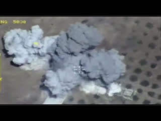 Су-35 ВКС удар КАБ-500 по опорнику боевиков