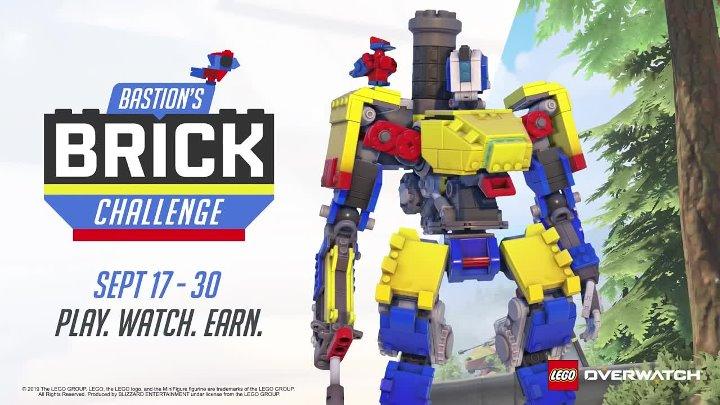 До 30 сентября в Overwatch можно получить LEGO скин для Бастиона