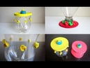 DIY Storage Jars Lids Recycling Plastic Bottles