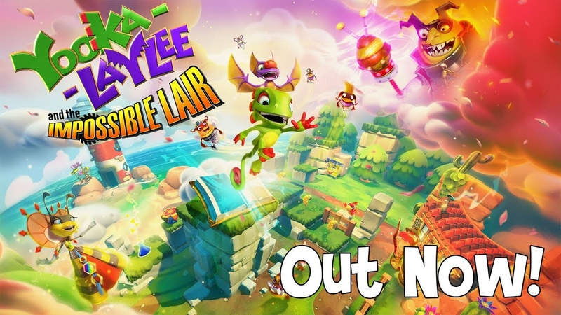 Yooka-Laylee and the Impossible Lair - Launch Trailer (Nintendo Switch, PS4, Xbox One, Steam GOG)
