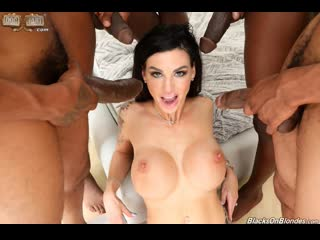 Melissa lynn gangbang big black cock 4 on 1,