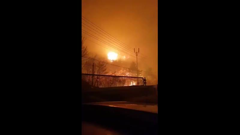 Incendiu MAJOR in Coreea de Sud Totul a inceput de la explozia unui transformator electric Aerul