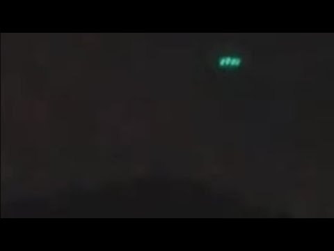 UFO Emitting Turquoise Color Lights Seen Over Medellín in Colombia On July 7, 2020
