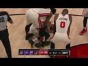 Rodney Hood HORRIBLE Lower Leg Injury Vs Los Angeles Lakers